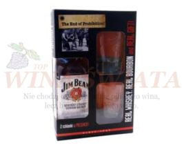 JIM BEAM 0,7L 40% + SZKLANKI